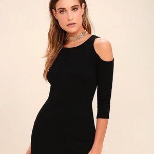 Dresses & Skirts - Cold shoulder black dress